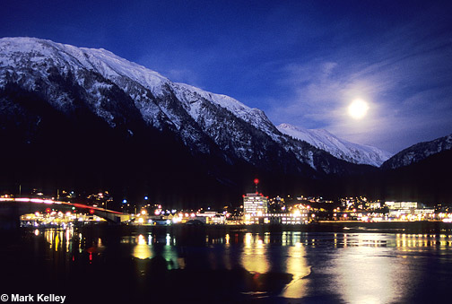 merry christmas  u2013 moonrise  juneau  alaska  u2013 image