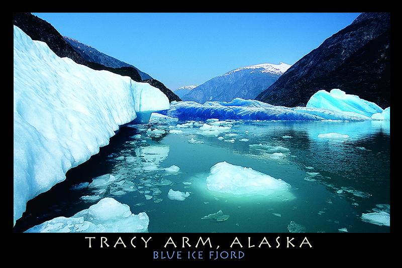 Tracy Arm Alaska Blue Ice Fjord Postcard PCMark Kelley - Tracy arm fjord