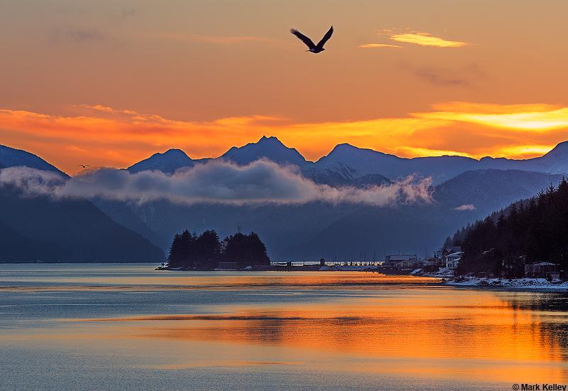 Gastineau Channel Sunrise Juneau Alaska Image 2897mark
