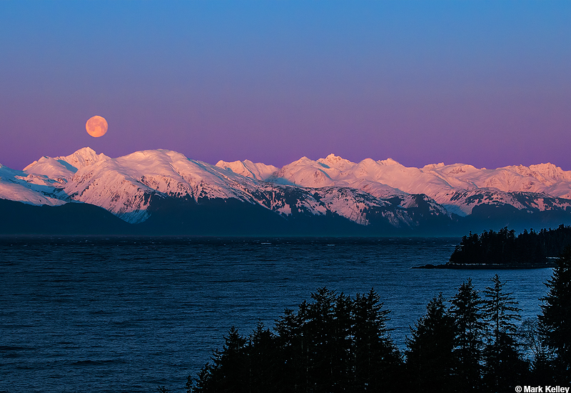 Chilkat Moon Set Alaska Calendar Mark Kelley